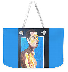 Weekender Tote Bag featuring the painting Gay Survivor by Esther Newman-Cohen