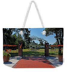 Weekender Tote Bag featuring the photograph Gazebo At Celebration Park by Judy Vincent