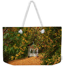 Gazebo At Washington Crossing Weekender Tote Bag by Elsa Marie Santoro
