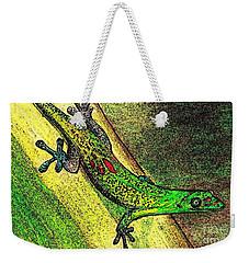 Gecko On The Green Weekender Tote Bag