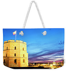 Weekender Tote Bag featuring the photograph Gediminas Tower by Fabrizio Troiani