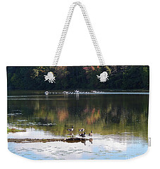 Geese At Rest And Flying Weekender Tote Bag