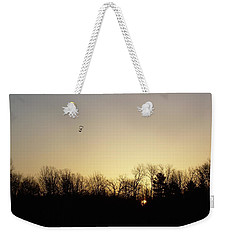 Weekender Tote Bag featuring the photograph Geese At Sunrise by Kent Lorentzen