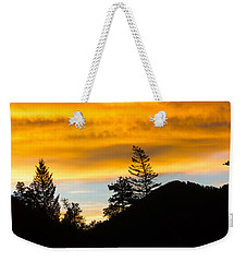 Weekender Tote Bag featuring the photograph Geese At Sunrise by Shane Bechler