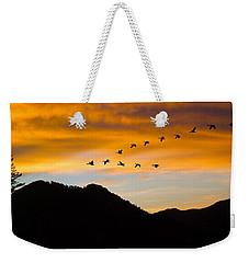 Geese At Sunrise Weekender Tote Bag