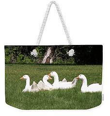 Geese In The Grass Weekender Tote Bag