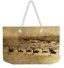 Geese On Golden Pond Weekender Tote Bag