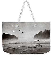 Geese Over Great Bay Weekender Tote Bag