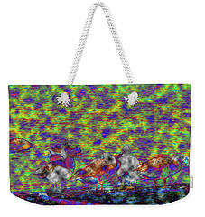 Geese Through The Clouds Weekender Tote Bag