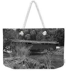 Geiger Covered Bridge B/w Weekender Tote Bag
