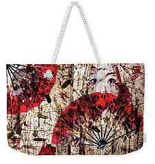 Geisha Grunge Weekender Tote Bag