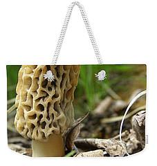 Gem Of The Forest - Morel Mushroom Weekender Tote Bag by Angie Rea