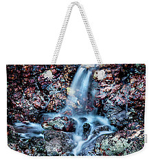 Weekender Tote Bag featuring the photograph Gemstone Falls by Az Jackson