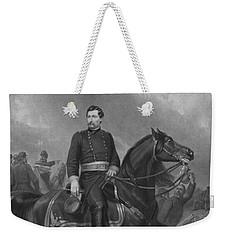 Weekender Tote Bag featuring the mixed media General George Mcclellan On Horseback by War Is Hell Store