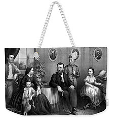 Weekender Tote Bag featuring the mixed media General Grant And His Family by War Is Hell Store