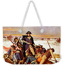General Washington Crossing The Delaware River Weekender Tote Bag by War Is Hell Store
