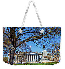 Weekender Tote Bag featuring the photograph General William Tecumseh Sherman Monument by Jean Haynes