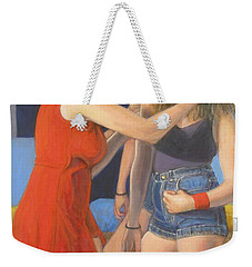 Weekender Tote Bag featuring the painting Generations #1 by Donelli  DiMaria