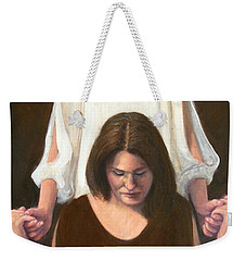 Weekender Tote Bag featuring the painting Generations #3 by Donelli  DiMaria