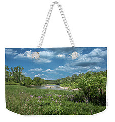 Weekender Tote Bag featuring the photograph Genesee River by Guy Whiteley