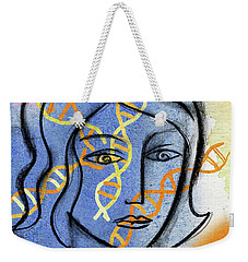 Weekender Tote Bag featuring the painting Genetics by Leon Zernitsky