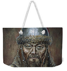 Genhis Khan Weekender Tote Bag by Arturas Slapsys