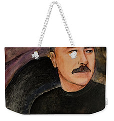 Weekender Tote Bag featuring the painting Genie In The Bottle by Ron Richard Baviello