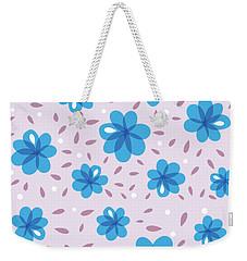 Gentle Blue Flowers Weekender Tote Bag