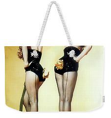 Weekender Tote Bag featuring the painting Gentlemen Prefer Blondes by R Muirhead Art