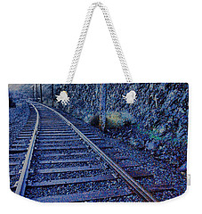 Weekender Tote Bag featuring the photograph Gently Winding Tracks by Jeff Swan