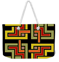 Geo Pattern 4 - Chuck Staley Weekender Tote Bag by Chuck Staley