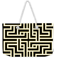 Geo Pattern 5 - Transparent Weekender Tote Bag by Chuck Staley