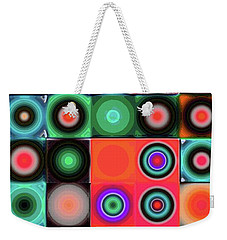 Weekender Tote Bag featuring the digital art Geometric Abstract I by Mimulux patricia no No