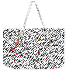 Geometric Abstract Weekender Tote Bag by Matt Lindley