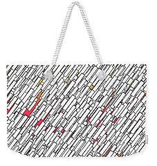 Geometric Abstract Weekender Tote Bag