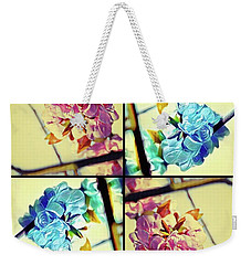 Geometric Blossoms Weekender Tote Bag