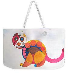 Geometric Cat Weekender Tote Bag by Sandy McIntire