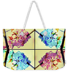 Geometric Cherry Blossoms Weekender Tote Bag