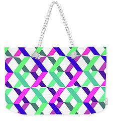Geometric Crosses Weekender Tote Bag