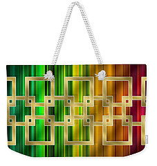 Geometric Design Horizontal Weekender Tote Bag by Chuck Staley