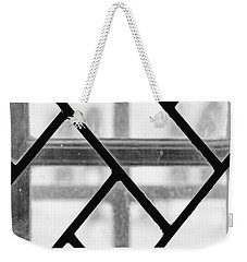 Weekender Tote Bag featuring the photograph Geometric Glasswork by Christi Kraft