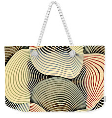 Weekender Tote Bag featuring the digital art Geometric Gymnastic - C69s08b by Variance Collections