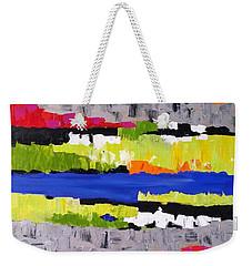 Geometric Landscape Weekender Tote Bag