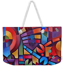 Geometric Music Weekender Tote Bag