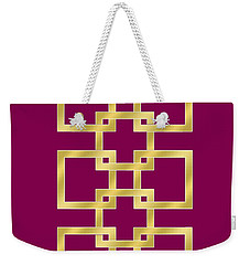 Geometric Transparent Weekender Tote Bag by Chuck Staley
