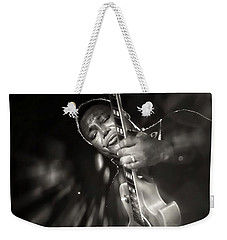 George Benson Black And White Weekender Tote Bag