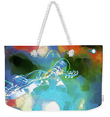 George Benson, Watercolor Weekender Tote Bag