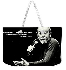 George Carlin Art  Weekender Tote Bag by Pd