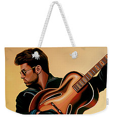 George Michael Painting Weekender Tote Bag by Paul Meijering