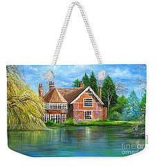 Weekender Tote Bag featuring the painting George Michaels Estate In Goring,england by Patrice Torrillo